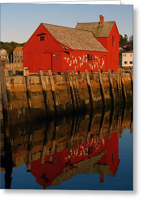 Red Fishing Shack Greeting Cards - Cape Ann Fishing Shack Greeting Card by Juergen Roth