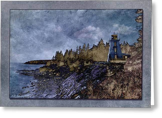 Bear Island Lighthouse Greeting Cards - Cape Bear Lighthouse 2 Greeting Card by WB Johnston