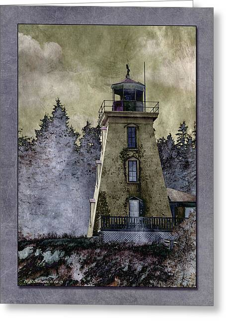 Bear Island Lighthouse Greeting Cards - Cape Bear Lighthouse Greeting Card by WB Johnston