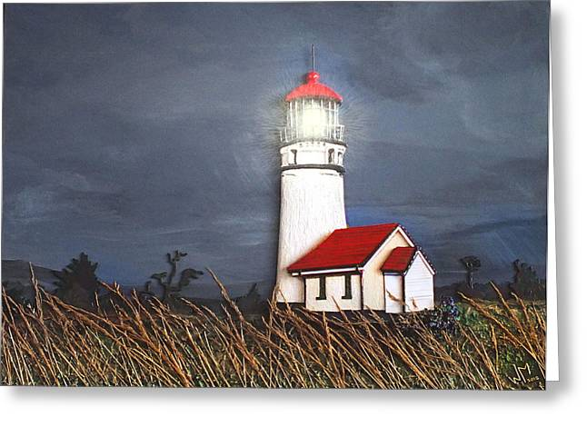 Foam Sculpture Greeting Cards - Cape Blanco Glow Greeting Card by Wendy McKennon