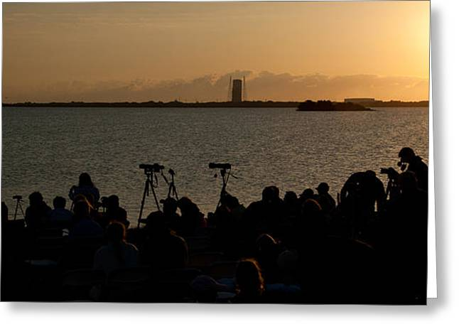Gathering Greeting Cards - Cape Canaveral launch of Endeavour STS-134 Greeting Card by Celso Diniz