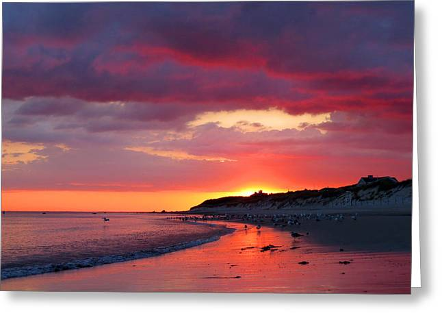 East Dennis Greeting Cards - Cape Cod Bay at Sunrise Greeting Card by Dianne Cowen