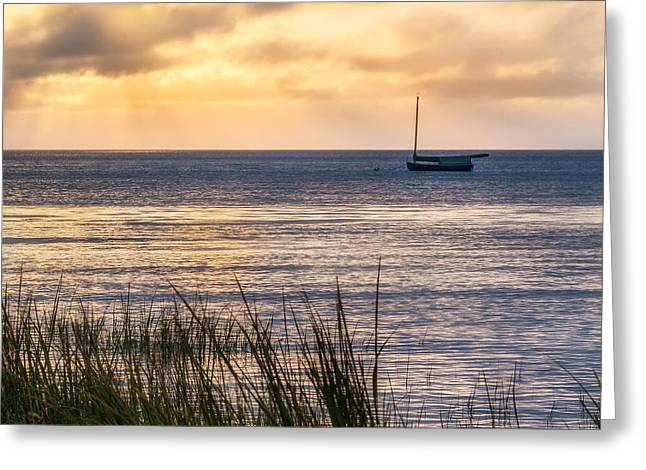 Cape Cod Bay Greeting Cards - Cape Cod Bay Square Greeting Card by Bill  Wakeley