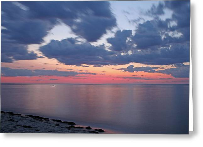Harbor Sesuit Harbor Greeting Cards - Cape Cod Bay Sunset Greeting Card by Juergen Roth