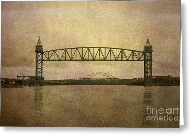 Chromatic Greeting Cards - Cape Cod Canal and Bridges Greeting Card by David Gordon