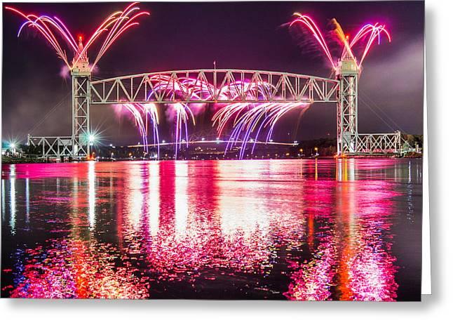 Cape Cod Canal Centennial Greeting Card by Dean Martin
