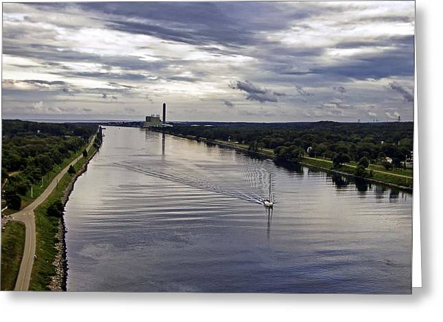 Glass Buoys Greeting Cards - Cape Cod Canal Greeting Card by Keith Woodbury