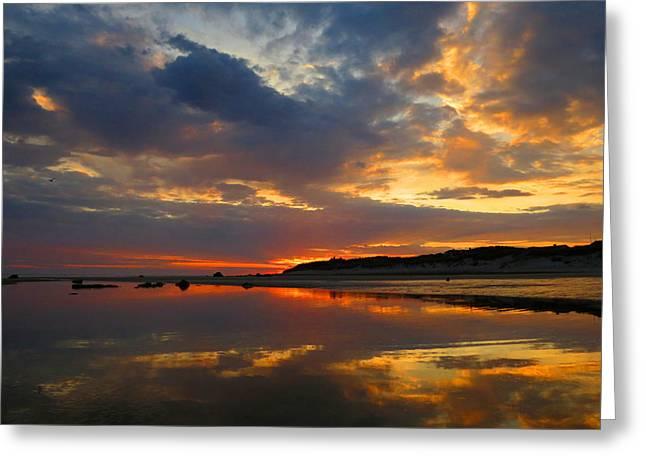 Dennis Ma Photographs Greeting Cards - Cape Cod Dawn Greeting Card by Dianne Cowen