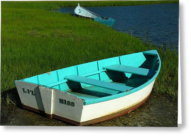 Fishing Creek Greeting Cards - Cape Cod Dinghies Greeting Card by Juergen Roth