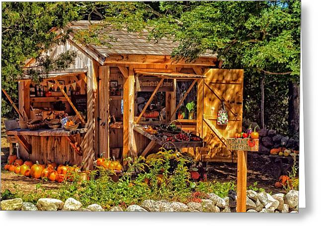 Farm Stand Greeting Cards - Cape Cod Entrepreneurship  Greeting Card by Constantine Gregory