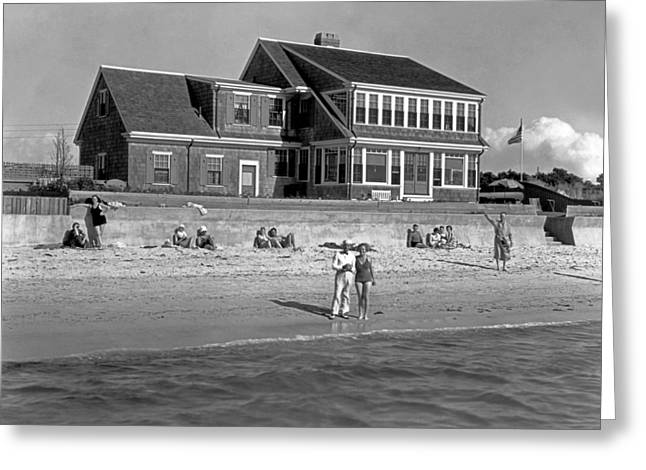 Historic Home Greeting Cards - Cape Cod Home Greeting Card by Underwood Archives