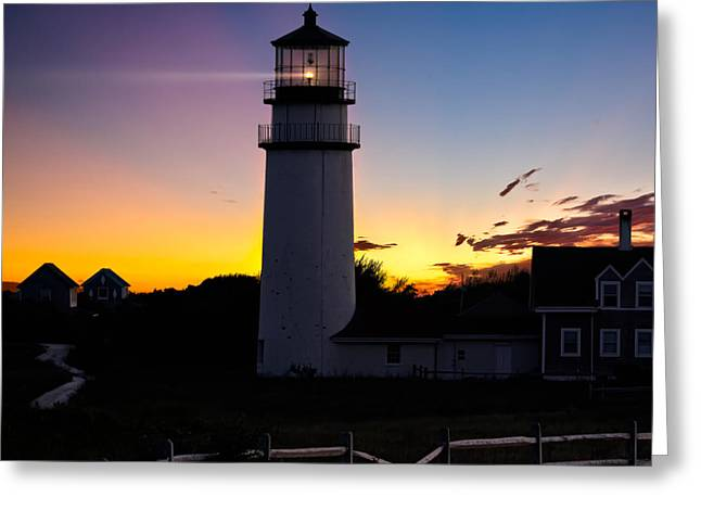 Cape Cod Light Square Greeting Card by Bill  Wakeley