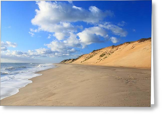 Cape Cod Tourism. Greeting Cards - Cape Cod Ocean Beach Greeting Card by John Burk