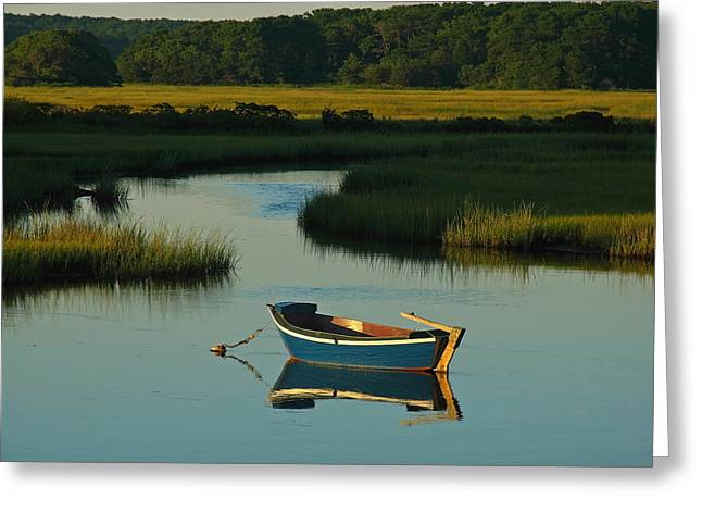 Fishing Creek Greeting Cards - Cape Cod Quietude Greeting Card by Juergen Roth