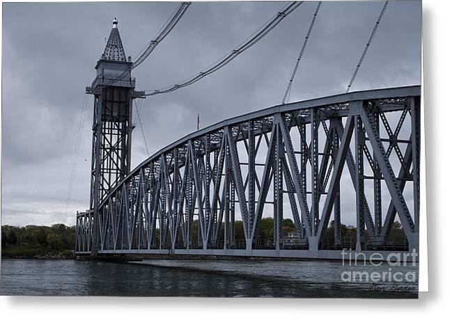 Cape Cod Railroad Bridge No. 1 Greeting Card by David Gordon