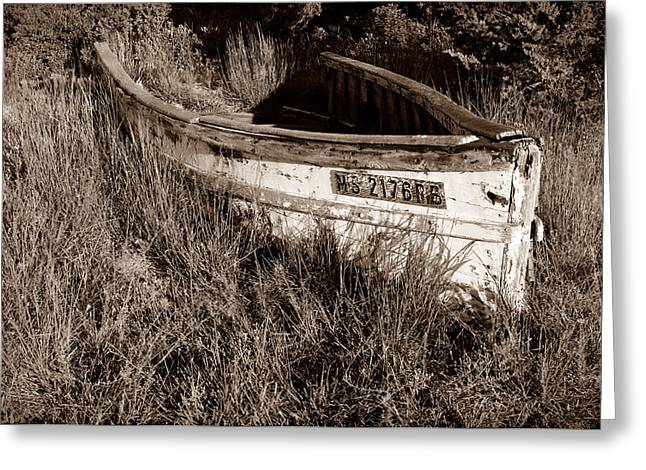 Chatham Greeting Cards - Cape Cod Skiff Greeting Card by Luke Moore