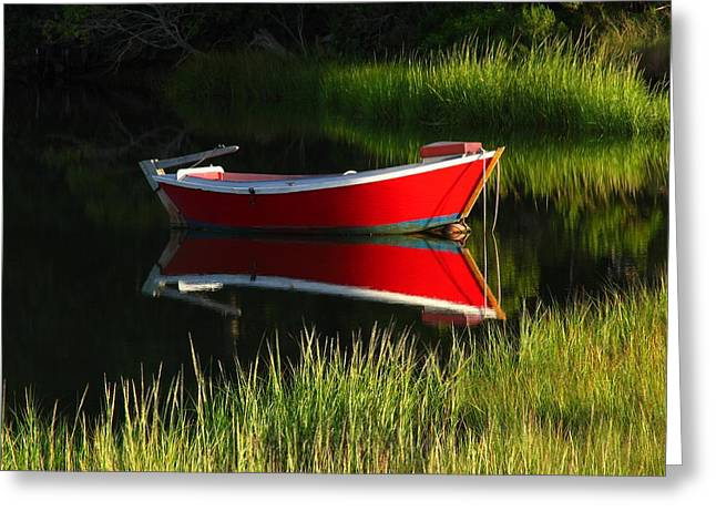 Fishing Creek Greeting Cards - Cape Cod Solitude Greeting Card by Juergen Roth