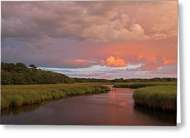 Storm Clouds Cape Cod Greeting Cards - Cape Cod Summer Storm Greeting Card by Juergen Roth