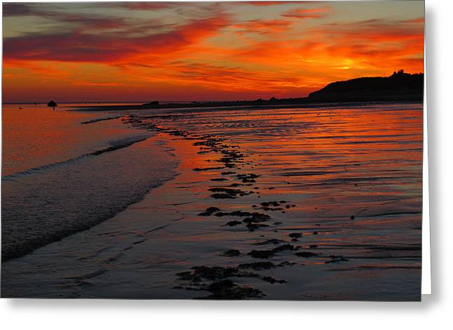 Cape Cod Tourism. Greeting Cards - Cape Cod Summer Sunrise Greeting Card by Dianne Cowen