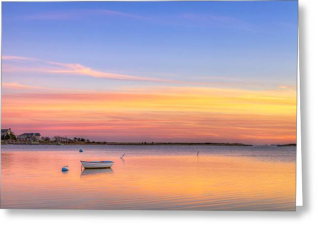 Massachussetts Greeting Cards - Cape Cod Sunset Greeting Card by Michael Petrizzo