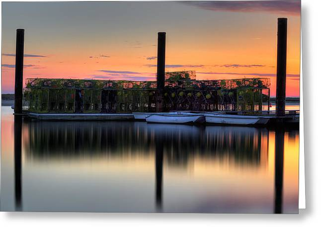 Cape Cod Bay Greeting Cards - Cape Cod Sunset Pamet Harbor Greeting Card by Bill  Wakeley