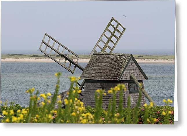 Chatham Greeting Cards - Cape Cod Windmill Greeting Card by Juergen Roth