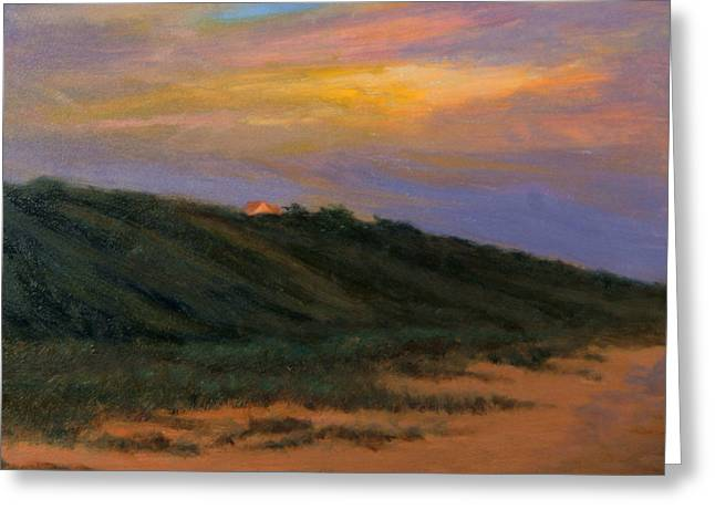 Cape Cod Mass Paintings Greeting Cards - Cape CodTruro Sundown II  Greeting Card by Phyllis Tarlow
