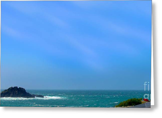 Cape Cornwall And The Brisons Rock Greeting Card by Linsey Williams