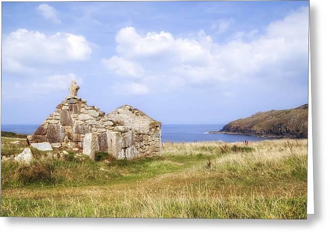 Cape Cornwall Greeting Card by Joana Kruse