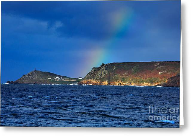Cape Cornwall Greeting Card by Louise Heusinkveld