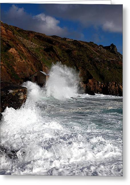 Cape Cornwall Greeting Card by Ollie Taylor