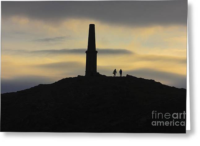 Cape Cornwall Greeting Cards - Cape Cornwall Sunset Greeting Card by Terri  Waters