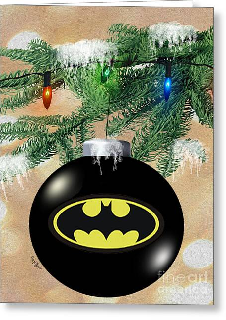 Caped Crusader Greeting Cards - Cape Crusaders Tree Greeting Card by Cheryl Young