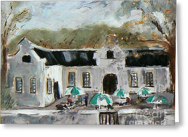 Stellenbosch Artist Greeting Cards - Cape Dutch House Greeting Card by Marietjie Du Toit