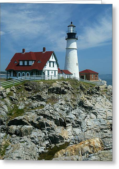 David Yunker Greeting Cards - Cape Elizabeth Greeting Card by David Yunker