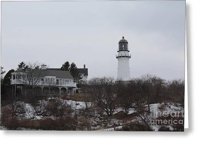 Cape Neddick Greeting Cards - Cape Elizabeth Lighthouse 1 Greeting Card by Joseph Marquis