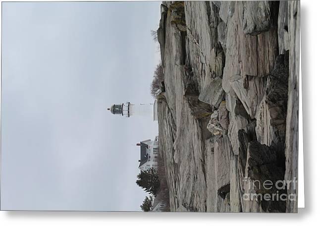 Cape Neddick Greeting Cards - Cape Elizabeth Lighthouse 8475 Greeting Card by Joseph Marquis