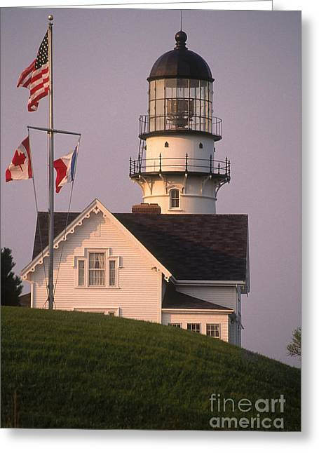Maine Lighthouses Greeting Cards - Cape Elizabeth Lighthouse Greeting Card by Bruce Roberts