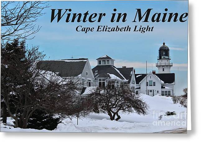 Winter In Maine Greeting Cards - Cape Elizabeth_9802a Greeting Card by Joseph Marquis