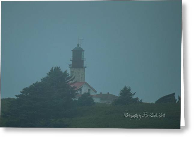 Cape Flattery Greeting Cards - Cape Flattery Light House DSC0092 Greeting Card by Safe Haven Photography Northwest