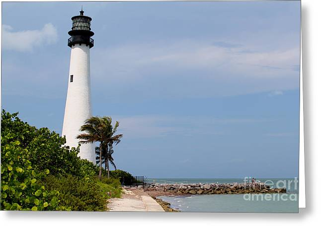 Cape Florida Beach Greeting Card by Carey Chen