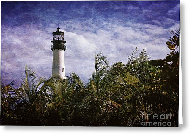 Cape Florida  Lighthouse  Greeting Card by Heinz G Mielke