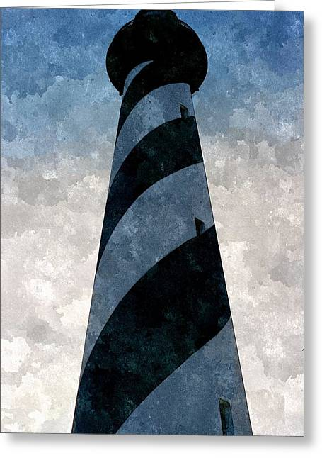 White Digital Greeting Cards - Cape Hatteras Greeting Card by Duende Artworks