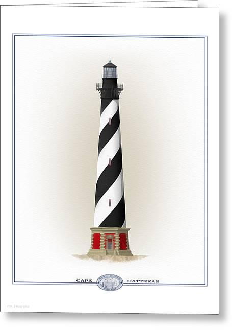 Storm Prints Greeting Cards - Cape Hatteras Lighthouse exterior Greeting Card by Harry Hine
