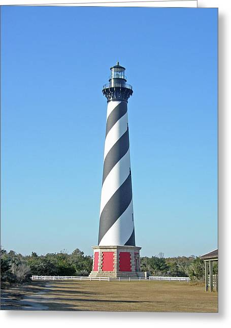 Mother Nature Greeting Cards - Cape Hatteras Lighthouse - Outer Banks NC Greeting Card by Mother Nature