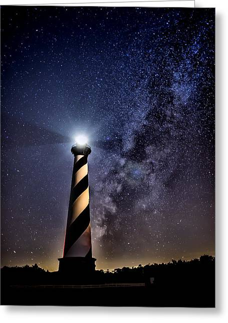 Cape Hatteras Lighthouse Greeting Cards - Cape Hatteras Lighthouse Under the Realm of Heaven Greeting Card by Jay Wickens
