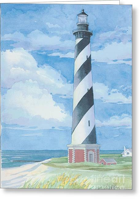Cape Hatteras Greeting Cards - Cape Hatteras NC Lighthouse Greeting Card by Paul Brent