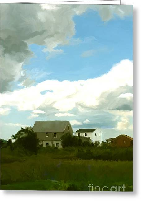 New England Ocean Digital Art Greeting Cards - Cape House Greeting Card by Paul Tagliamonte