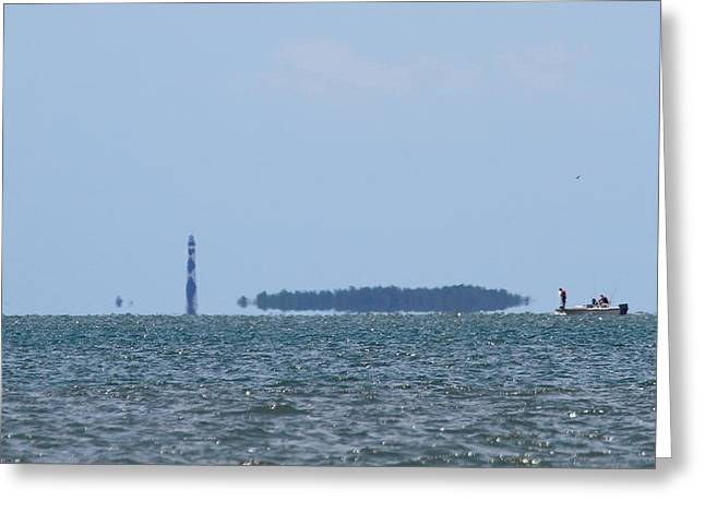 I Love Nc Greeting Cards - Cape Lookout and Boat Greeting Card by Cathy Lindsey