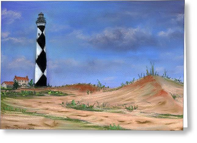 Soft Light Pastels Greeting Cards - Cape Lookout Greeting Card by Kathryn Foster